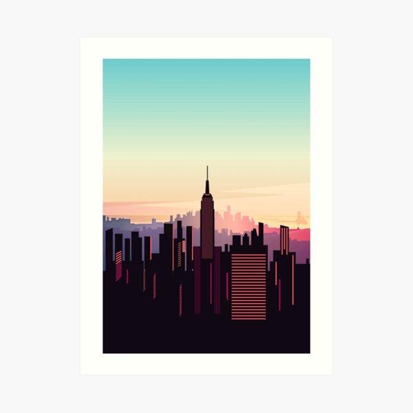 New york sunshine Art Print