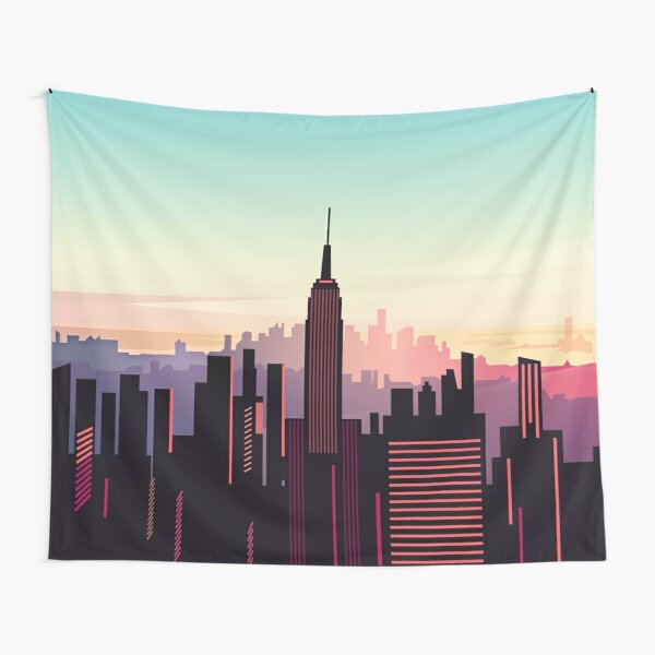 New york sunshine Tapestry