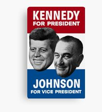 Kennedy And Johnson 1960 Election Canvas Print