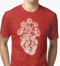 Blooming Heart Tri-blend T-Shirt