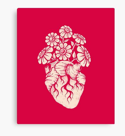 Blooming Heart Canvas Print