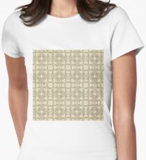 floral antique beige pattern Womens Fitted T-Shirt
