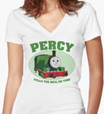 Percy - Pulls The Mail On Time Women's Fitted V-Neck T-Shirt