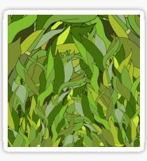 Green Bamboo Leaves Sticker