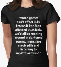 Video Games don't affect Kids Women's Fitted T-Shirt