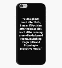 Video Games don't affect Kids iPhone Case