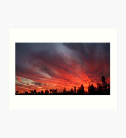 Sunset at Garah Art Print