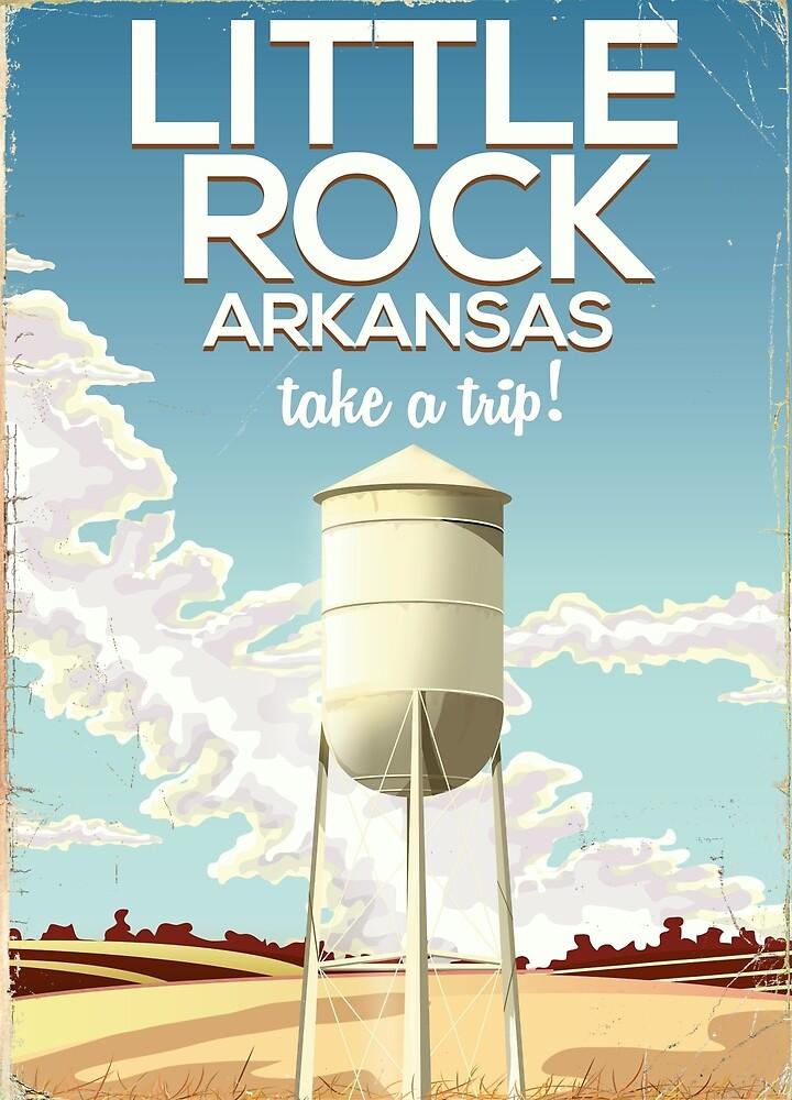 Little Rock Arkansas Vintage travel poster  by vectorwebstore