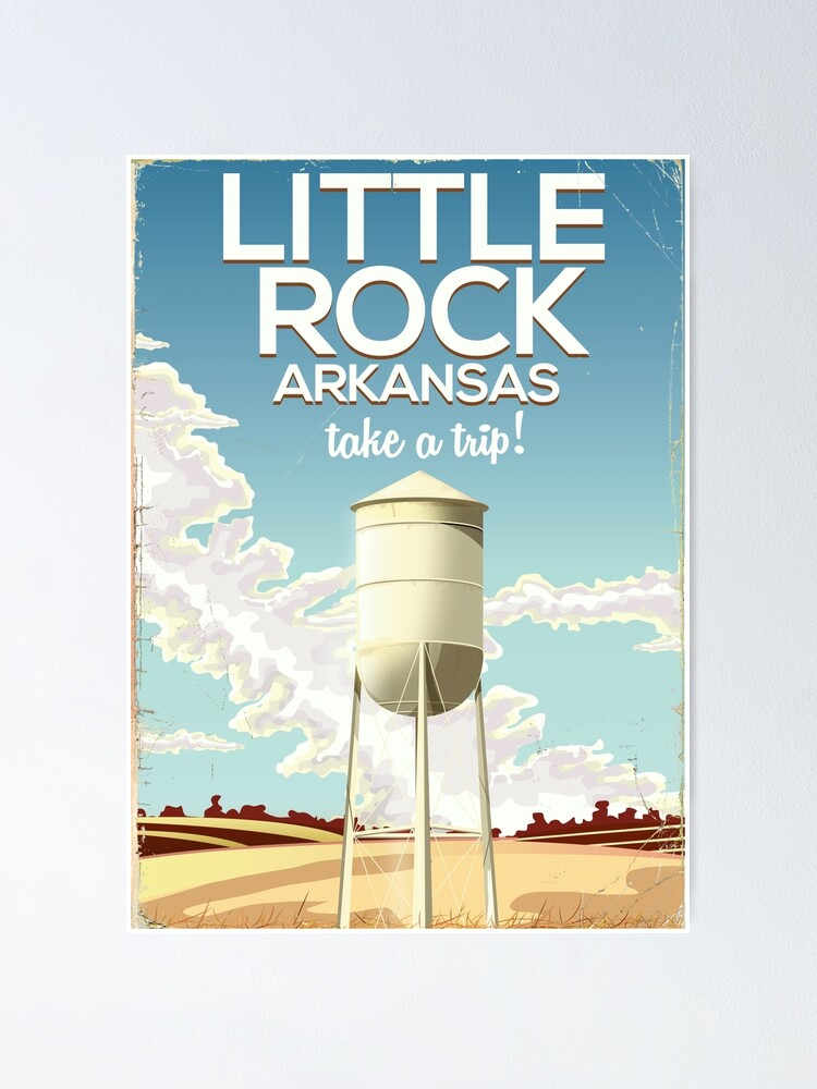 VINTAGE STATE OF ARKANSAS VACATION TRAVEL AD POSTER ART REAL CANVAS PRINT