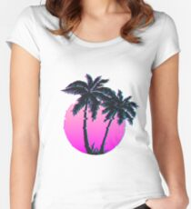 Miami Palm VHS Women's Fitted Scoop T-Shirt