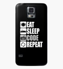 Eat Sleep Code Repeat  Case/Skin for Samsung Galaxy