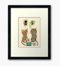 Geek Cats  Framed Print