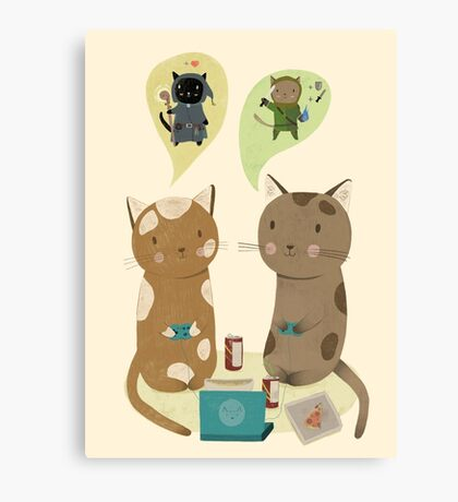 Geek Cats  Canvas Print