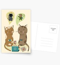 Geek Cats  Postcards