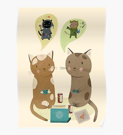 Geek Cats  Poster