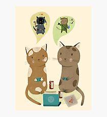 Geek Cats  Photographic Print