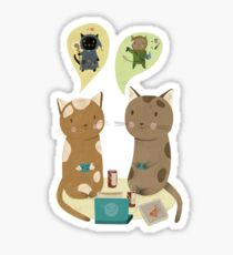 Geek Cats  Sticker