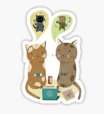 Geek Cats  Sticker