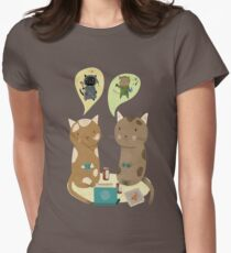 Geek Cats  Womens Fitted T-Shirt