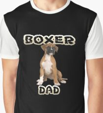 Boxer Dog Dad Father Graphic T-Shirt