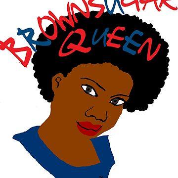 BrownSugar Queen Natural Hair AfroTshirt by EllenDaisyShop