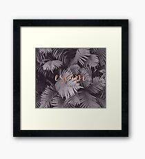 Rose gold escape in the shadows Framed Print