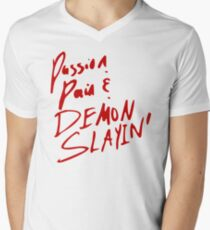 passion demon slayin Men's V-Neck T-Shirt