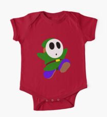 Green Shy Guy One Piece - Short Sleeve