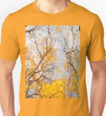 Yellow autumn leaves on trees  Unisex T-Shirt