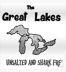 Great Lakes Drawing: Posters | Redbubble
