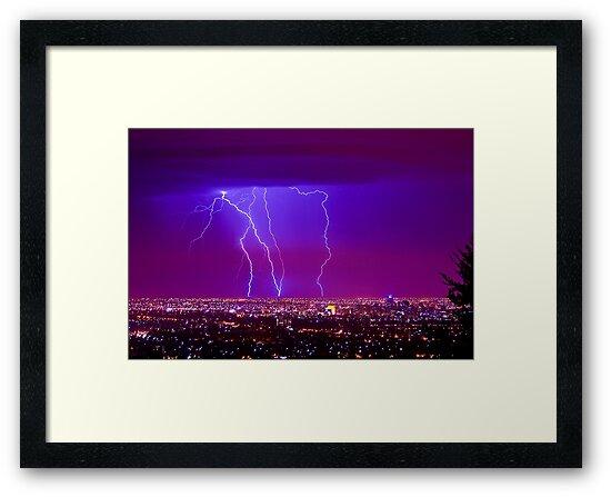 Lightning over Adelaide by Andre Gascoigne