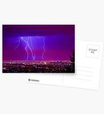 Lightning over Adelaide Postcards