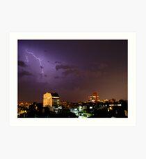Lightning over Ha Noi Art Print