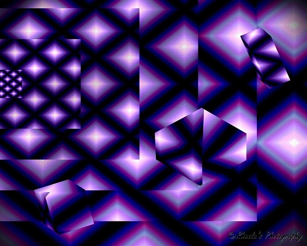 Purple squared..... by Rhonda Ford