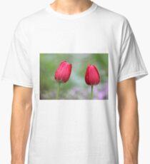Spring Rain - red tulips Classic T-Shirt