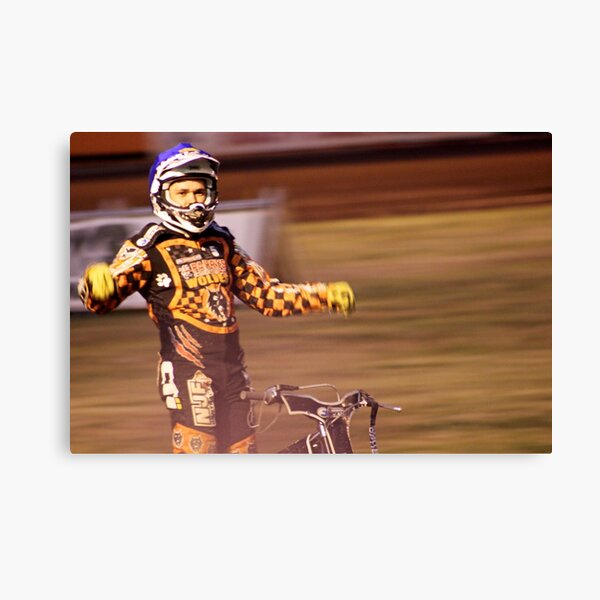 Tai Woffinden standing on bike Canvas Print