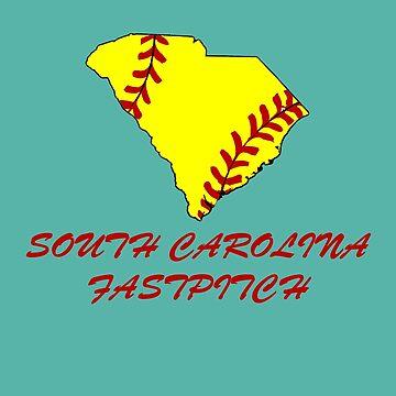 South Carolina Fastpitch Softball by InMotionGraphic