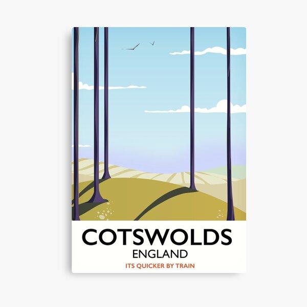 Cotswolds landscape travel poster Canvas Print