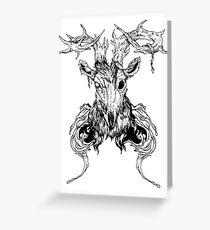 Dead deer Greeting Card