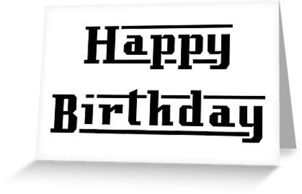Lambretta Style Font - Happy Birthday by ScooterStreet