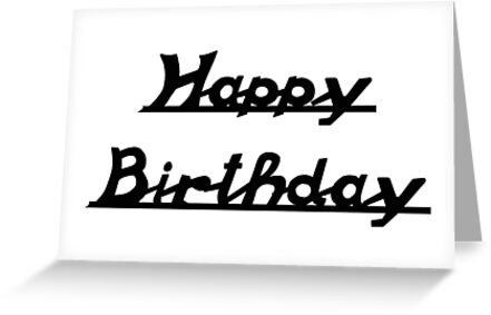 Old Scroll Vespa Style Font - Happy Birthday  by ScooterStreet
