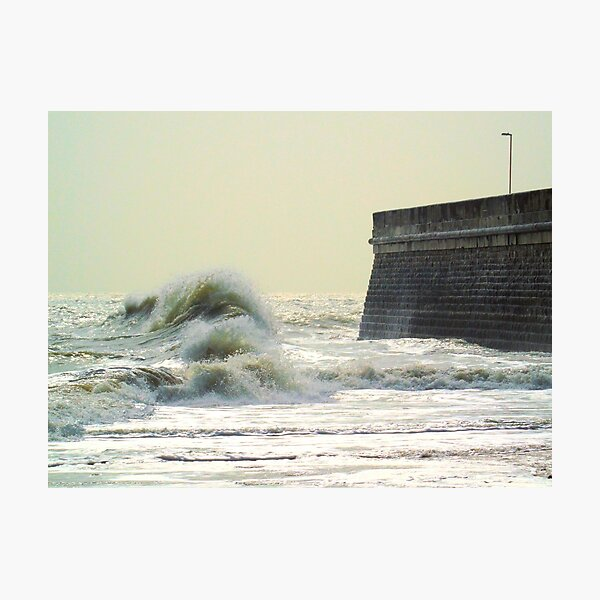 Waves over Ramsgate Photographic Print