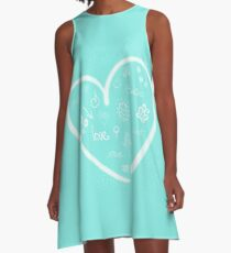 Hearts Filled with Joy A-Line Dress