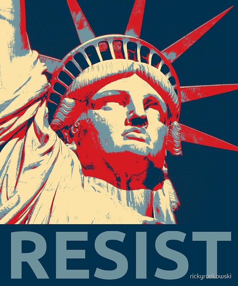 Anti-Trump Resist Statue of Liberty by rickyroekowski