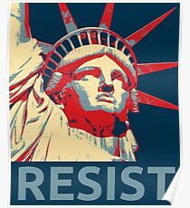 Anti-Trump Resist Statue of Liberty Poster