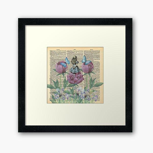 Alice In Wonderland - Wonderland Garden Framed Art Print