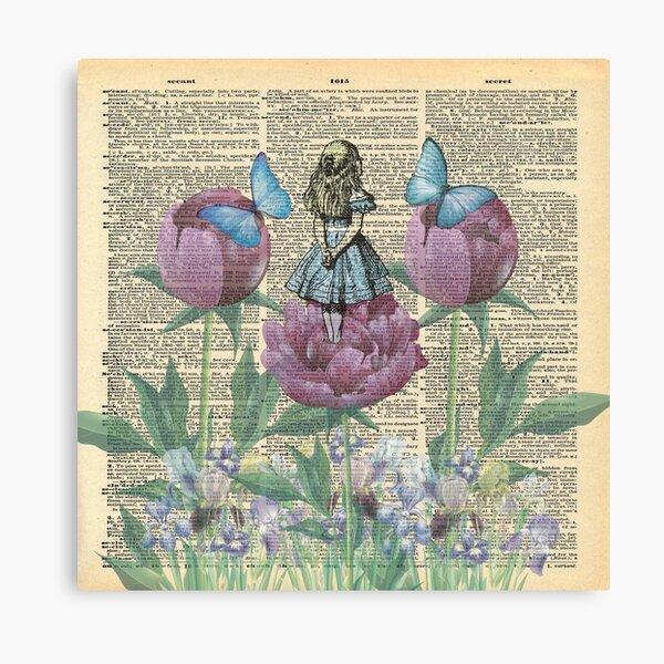 Alice In Wonderland - Wonderland Garden Canvas Print