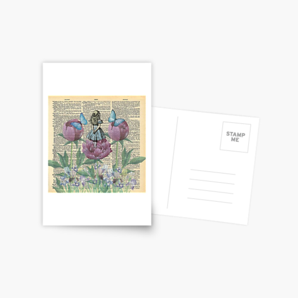 Alicia en el país de las maravillas - Wonderland Garden Postal