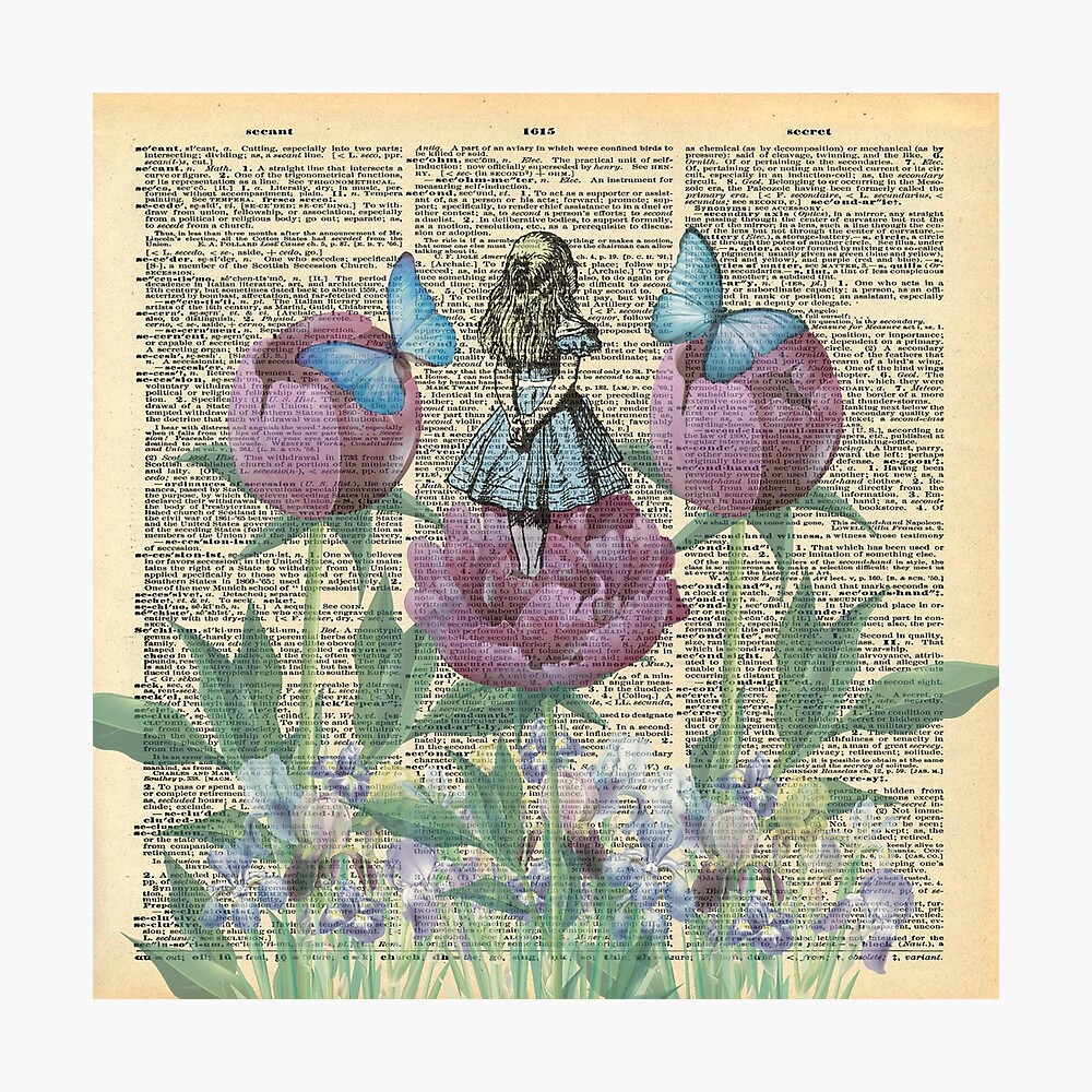 Alicia en el país de las maravillas - Wonderland Garden Lámina fotográfica