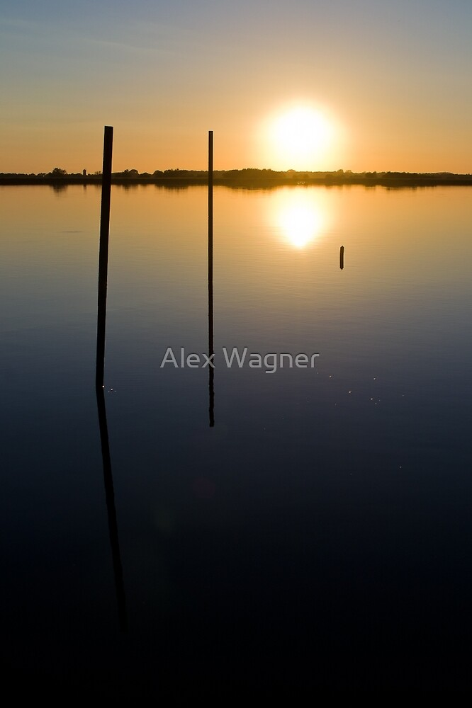 Three Posts Silhouette by Alex Wagner